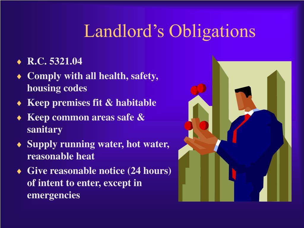 Landlord's Obligations