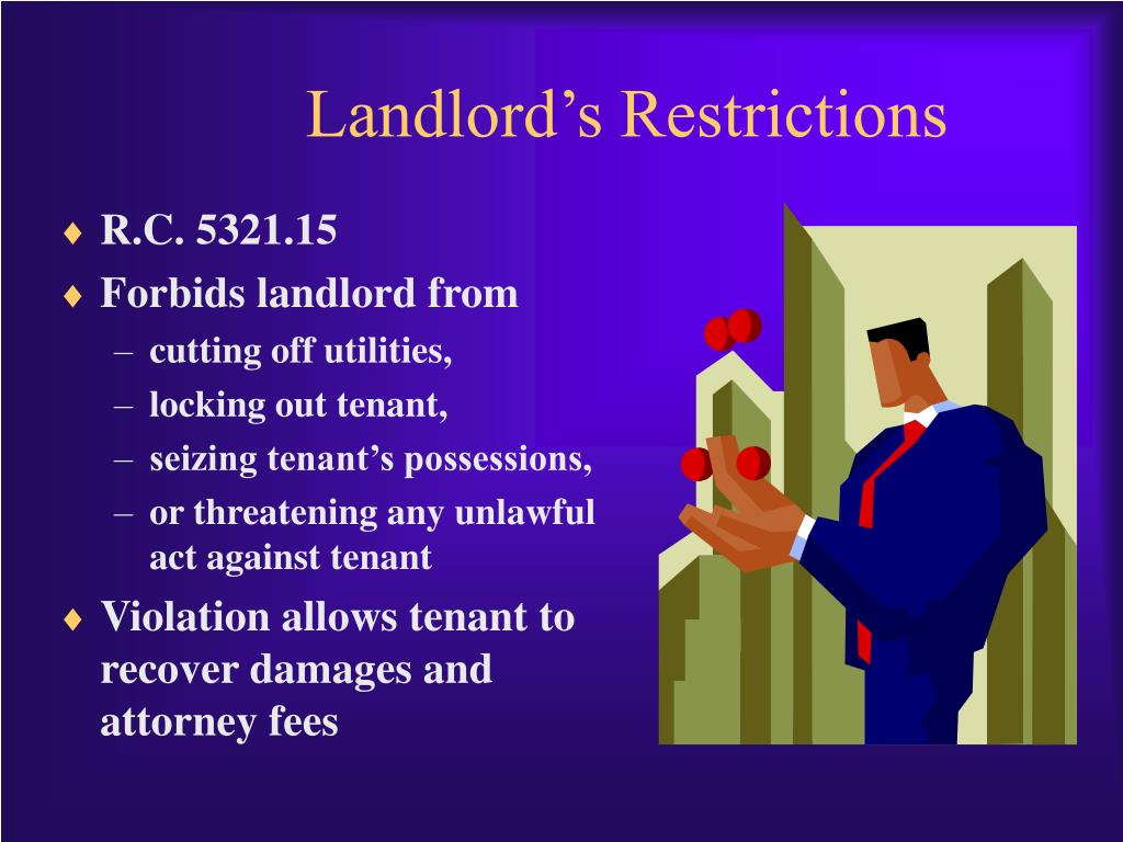 Landlord's Restrictions