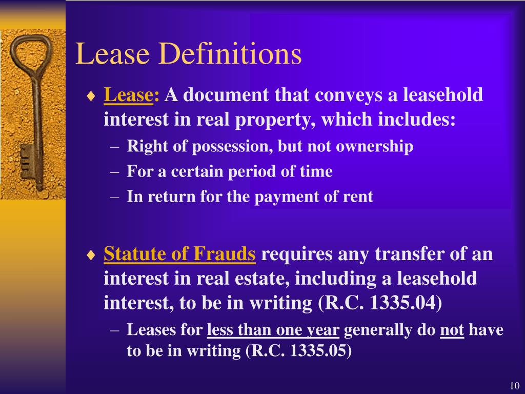 Lease Definitions