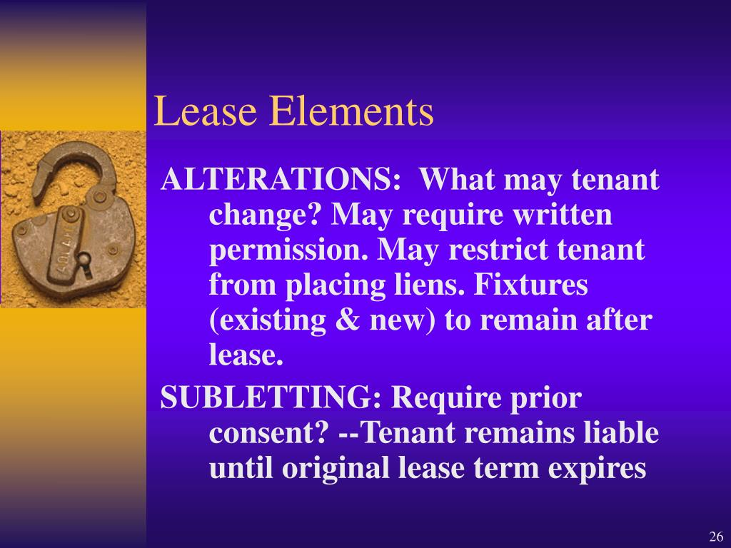 Lease Elements