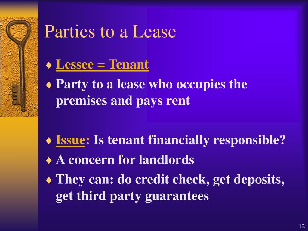 Parties to a Lease