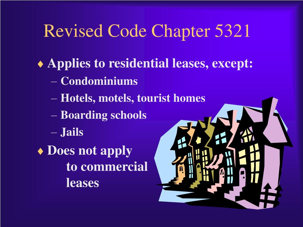 Revised Code Chapter 5321