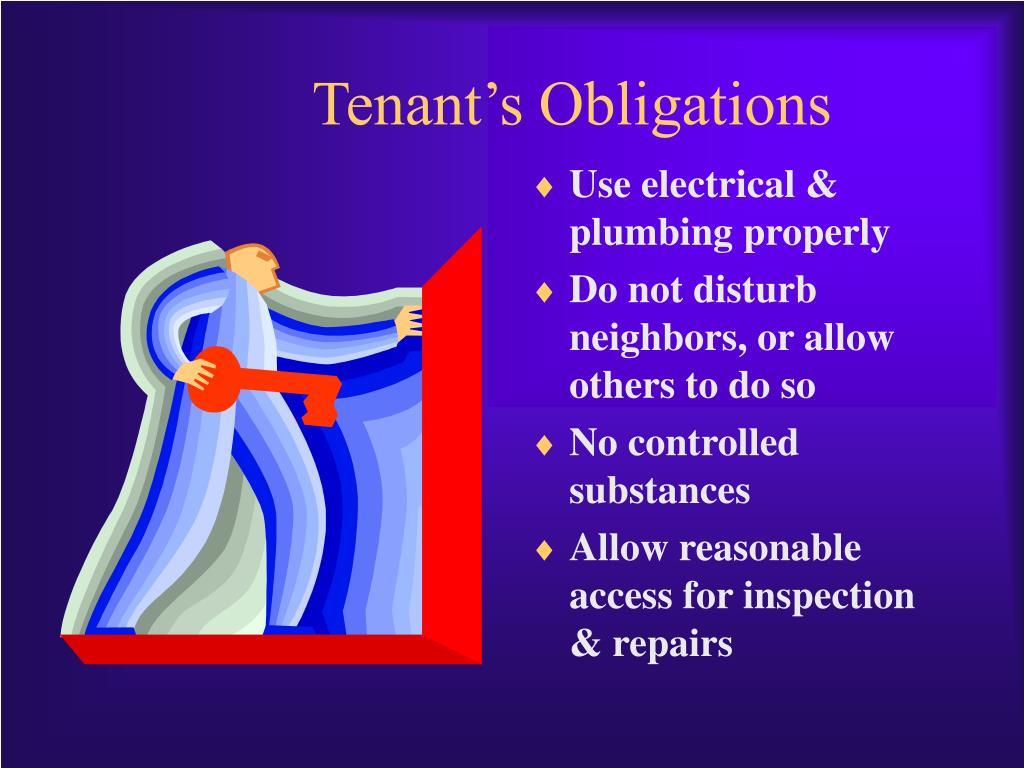 Tenant's Obligations