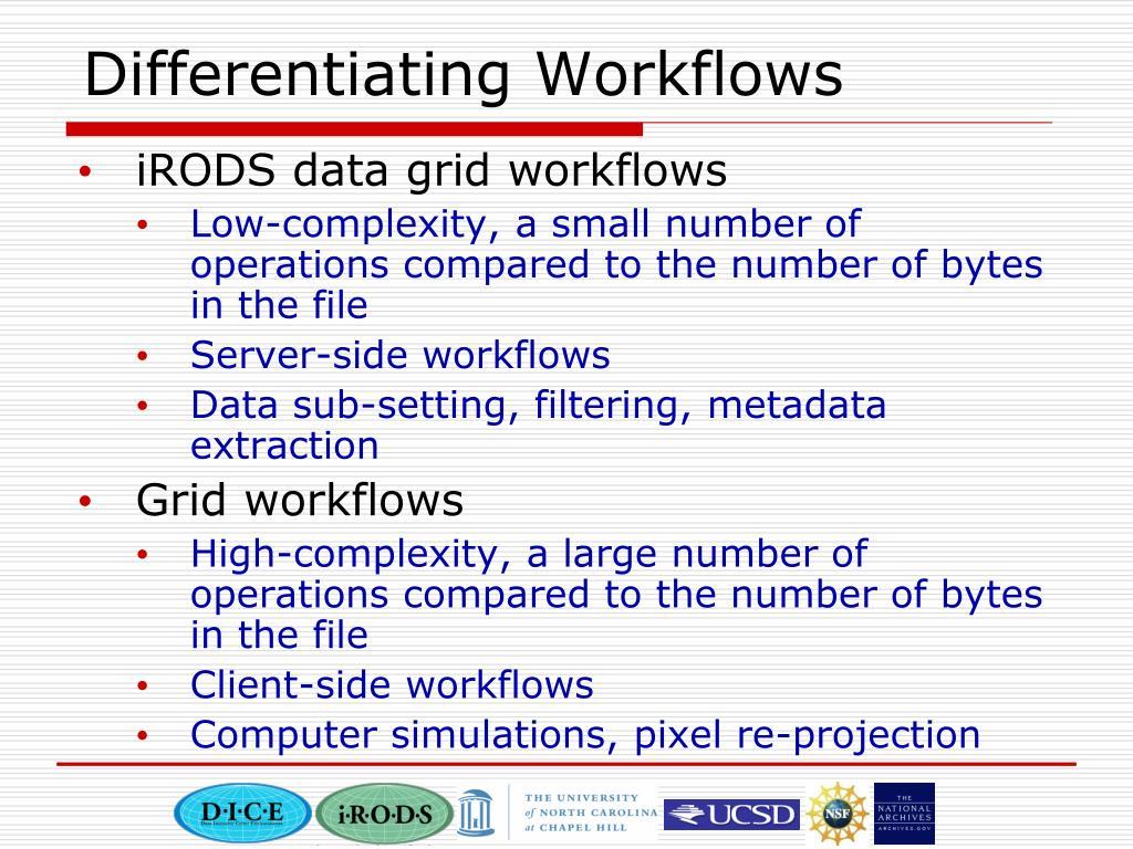 Differentiating Workflows
