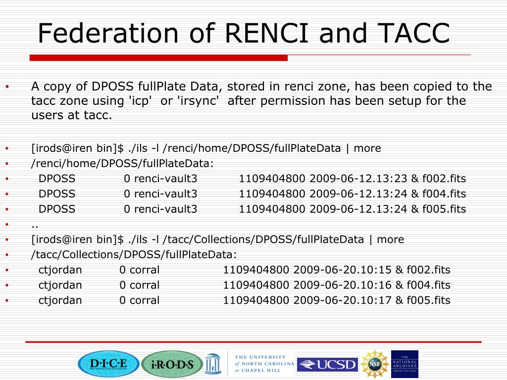 Federation of RENCI and TACC