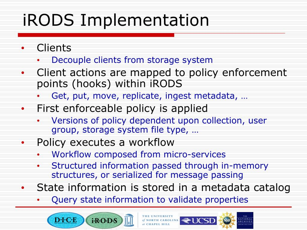 iRODS Implementation
