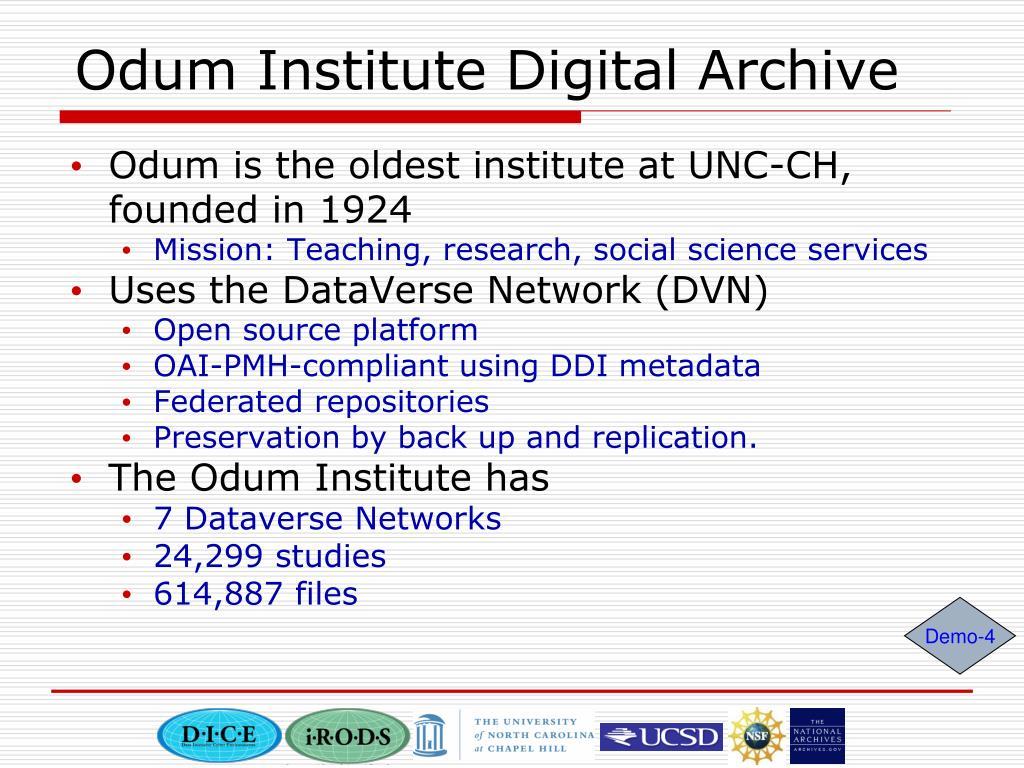 Odum Institute Digital Archive