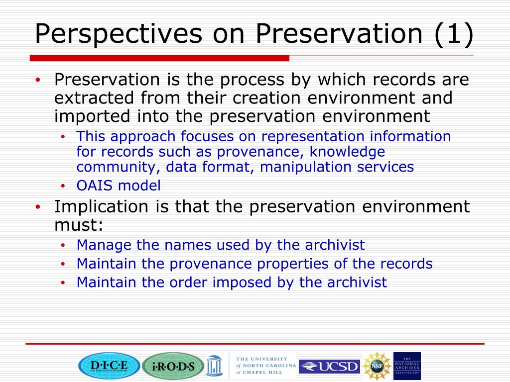 Perspectives on Preservation (1)