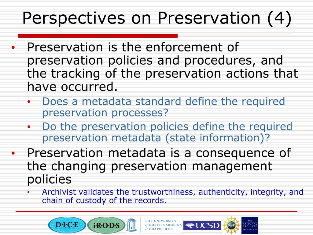 Perspectives on Preservation (4)