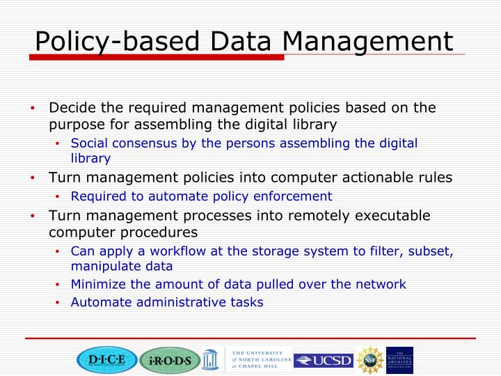 Policy based data management
