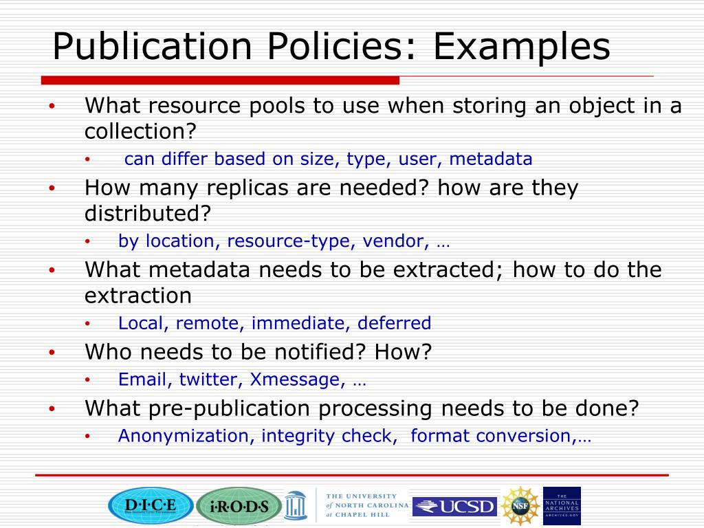 Publication Policies: Examples