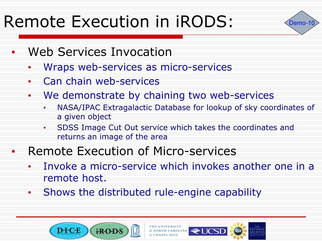 Remote Execution in iRODS: