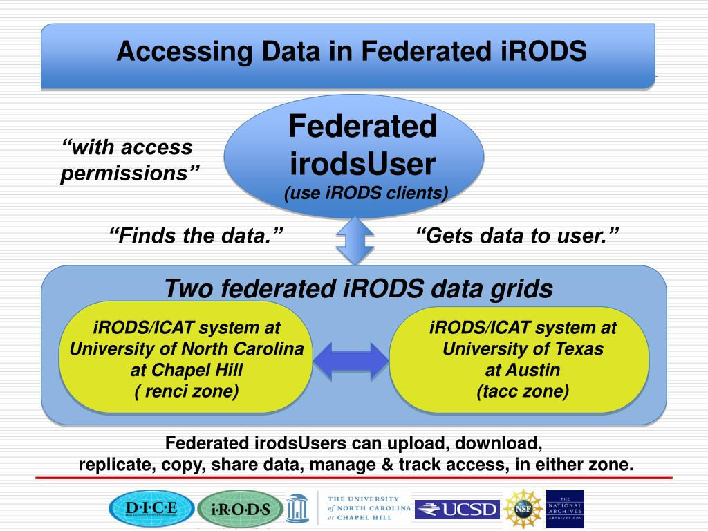 Accessing Data in Federated iRODS