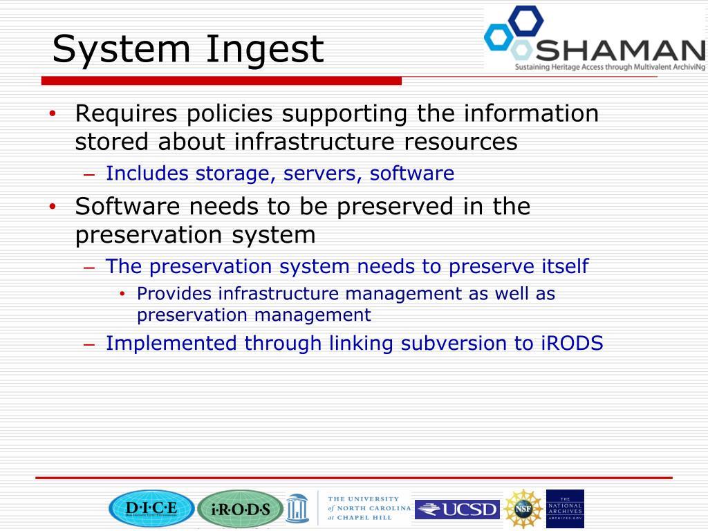System Ingest
