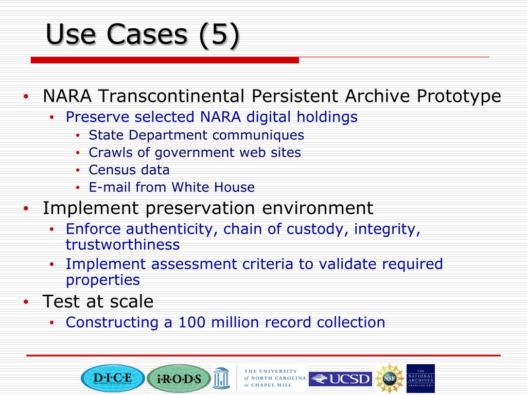 Use Cases (5)