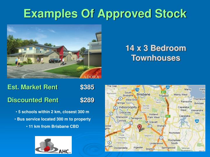 Examples of approved stock