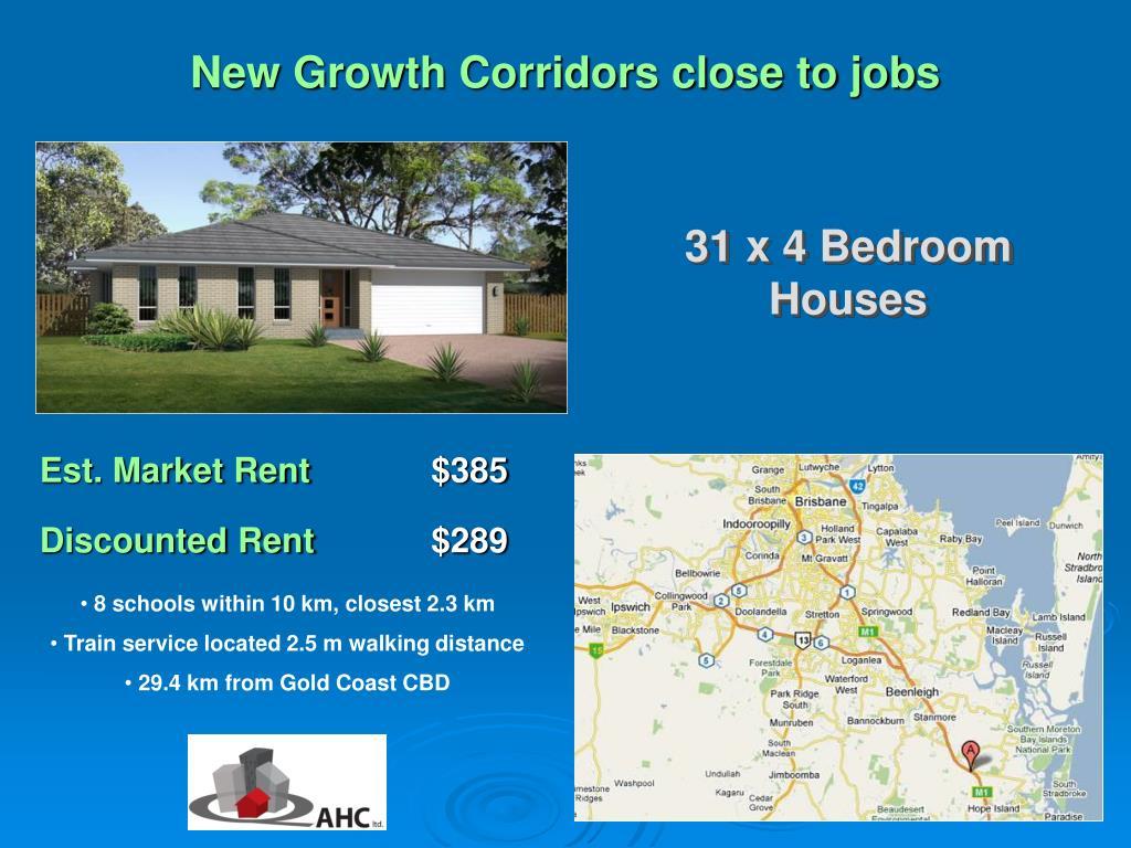 New Growth Corridors close to jobs
