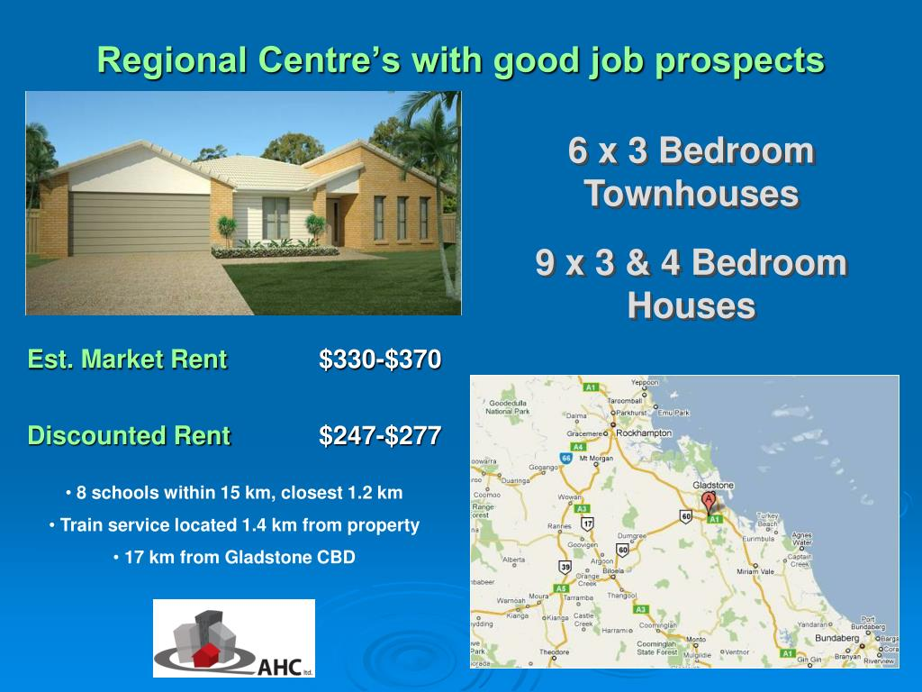 Regional Centre's with good job prospects