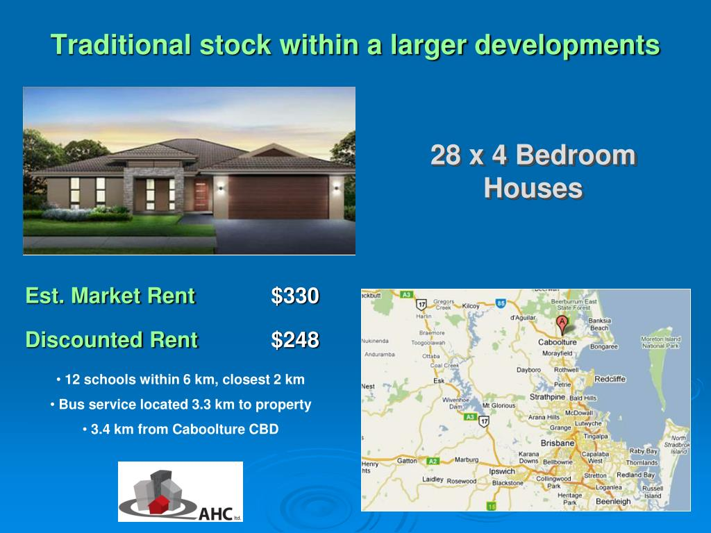 Traditional stock within a larger developments