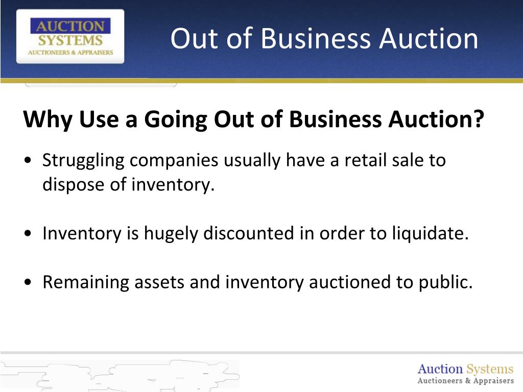 Out of Business Auction