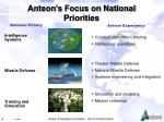 anteon s focus on national priorities