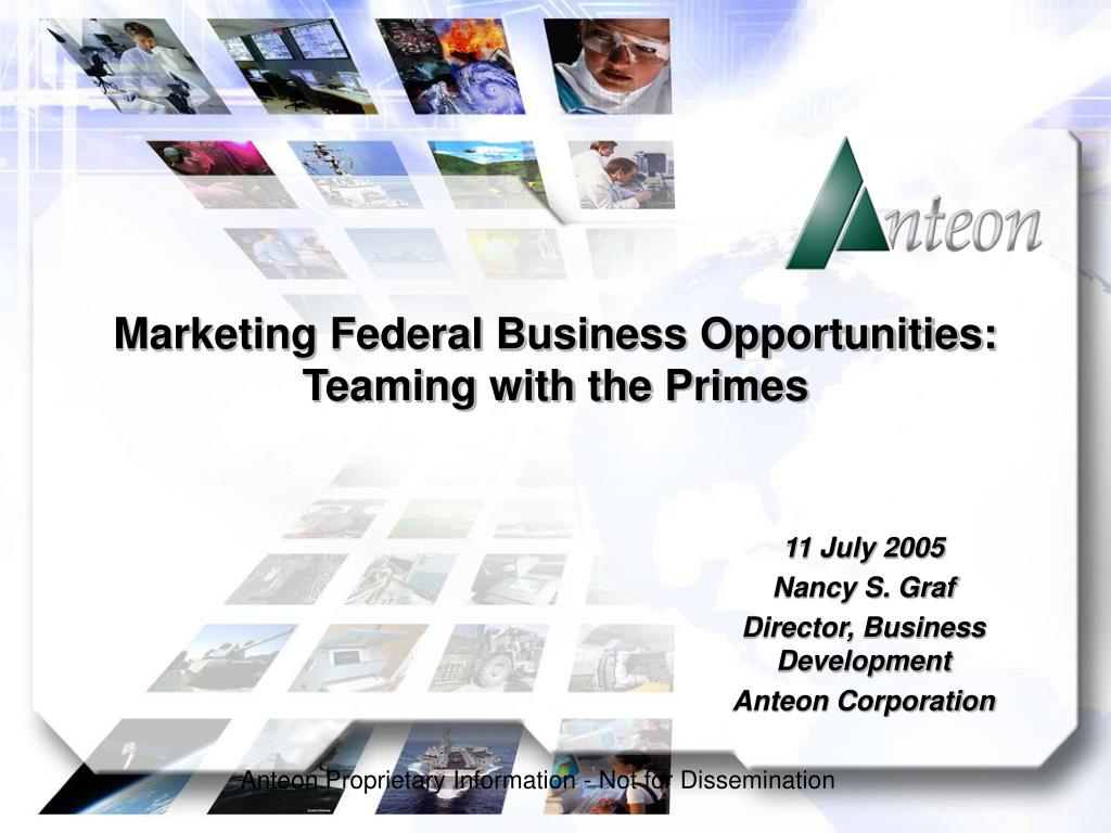 marketing federal business opportunities teaming with the primes l.