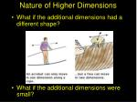 nature of higher dimensions