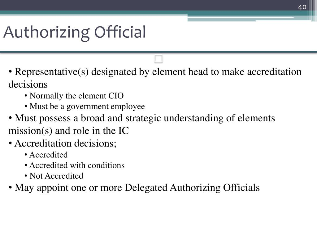 Authorizing Official