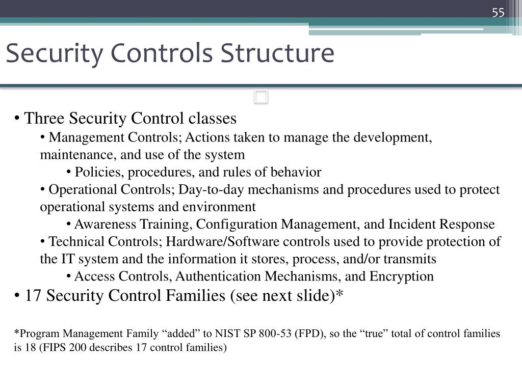 Security Controls Structure