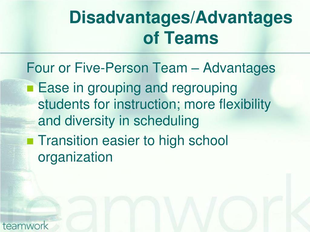Disadvantages/Advantages of Teams