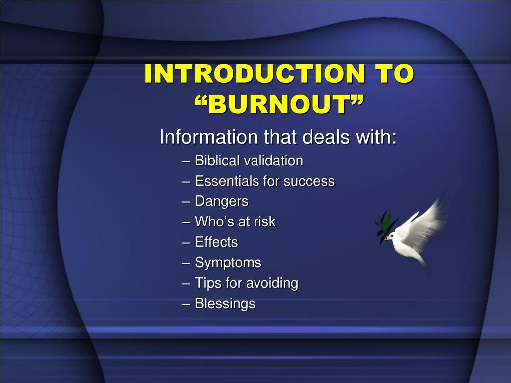 introduction to burnout l.