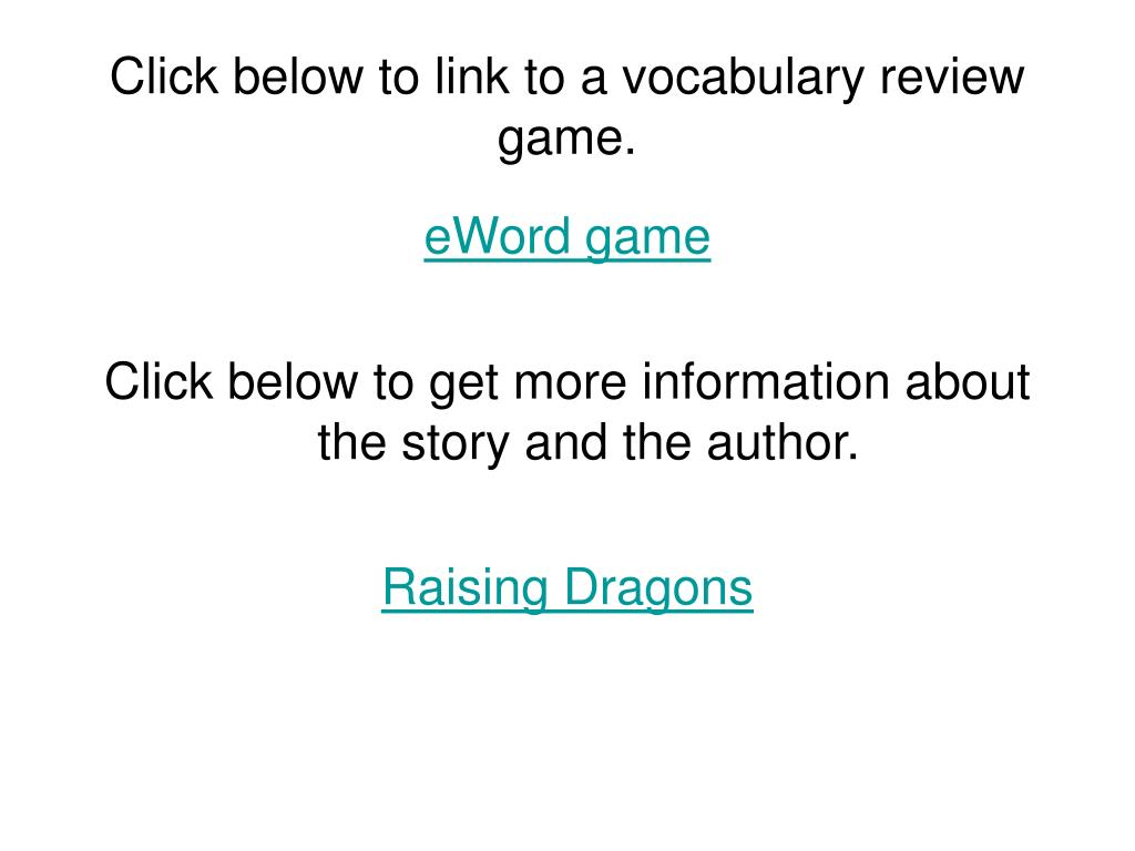 Click below to link to a vocabulary review game.