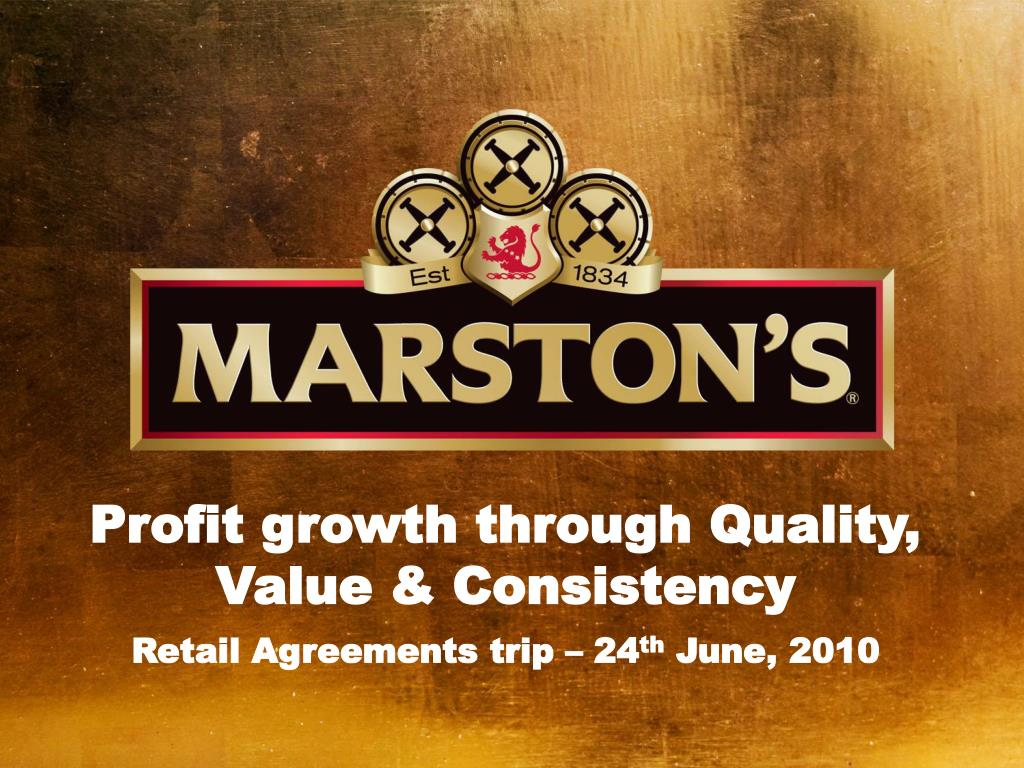 Profit growth through Quality, Value & Consistency