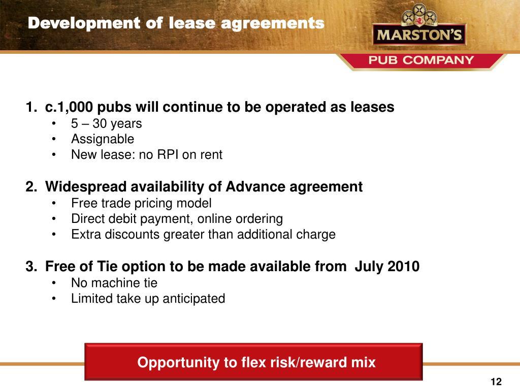 Opportunity to flex risk/reward mix