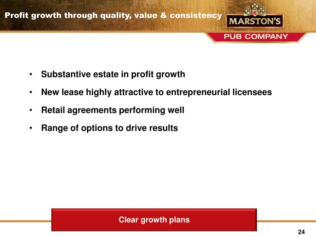 Substantive estate in profit growth