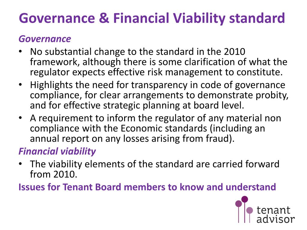 Governance & Financial Viability standard