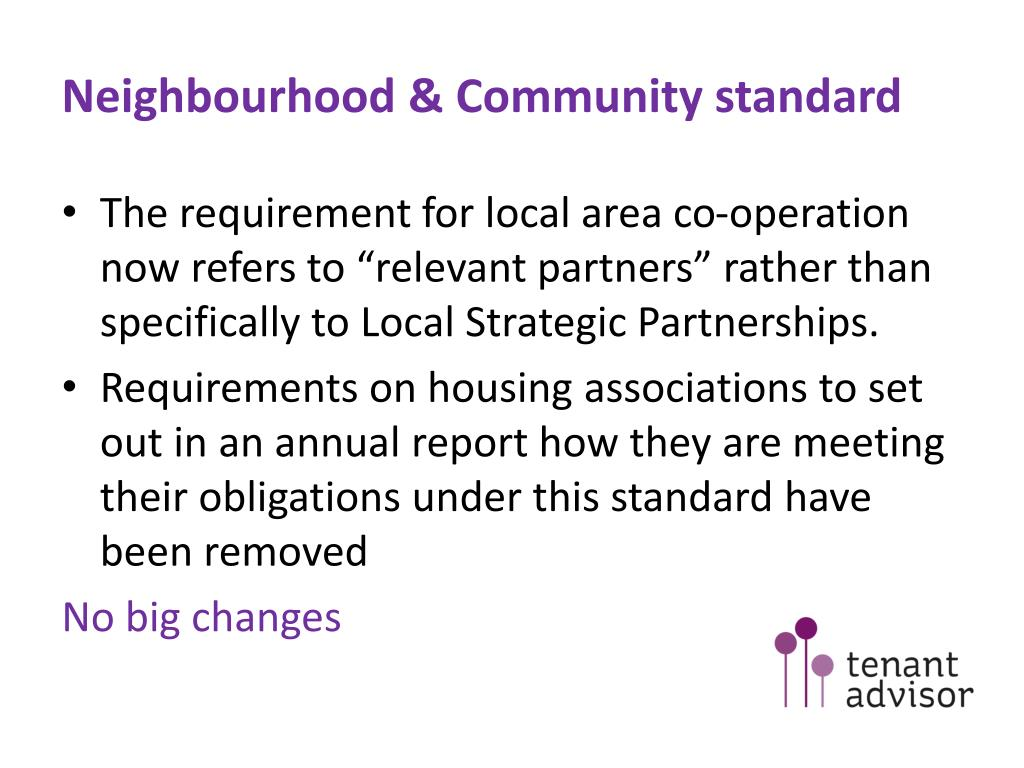 Neighbourhood & Community standard