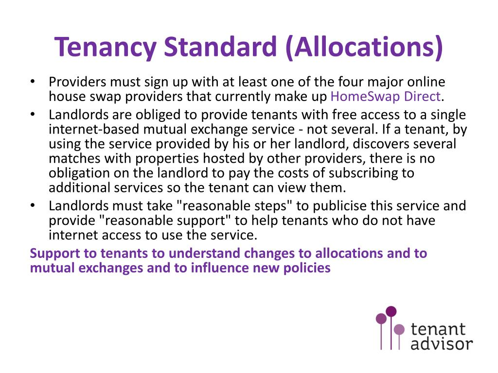 Tenancy Standard (Allocations)