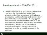 relationship with bs 8534 2011