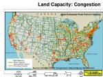 land capacity congestion