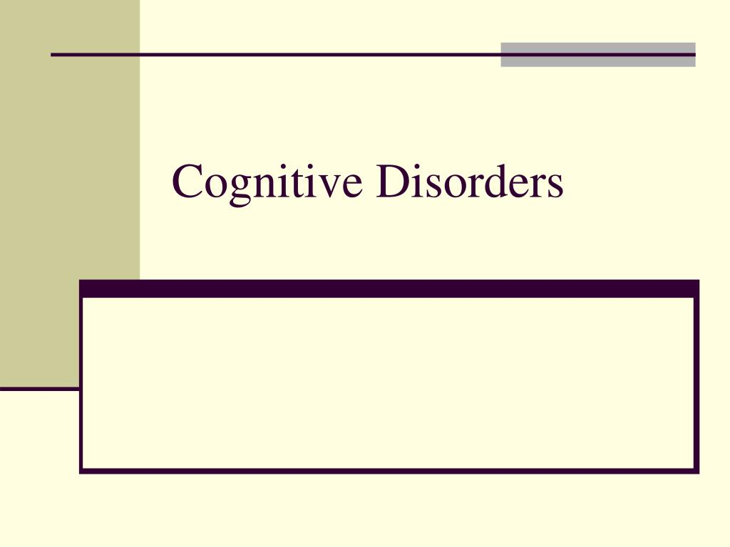 cognitive disorders l.