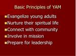 basic principles of yam