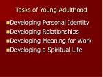 tasks of young adulthood