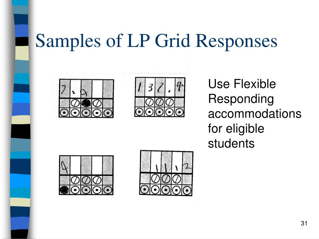 Samples of LP Grid Responses
