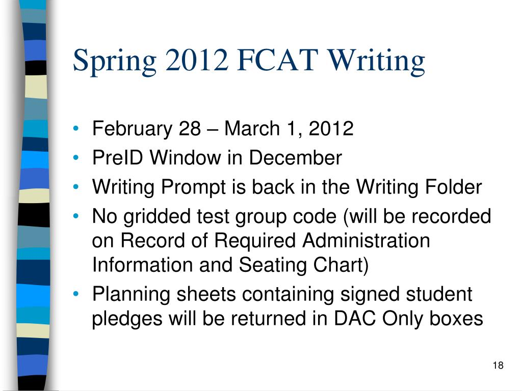 Spring 2012 FCAT Writing