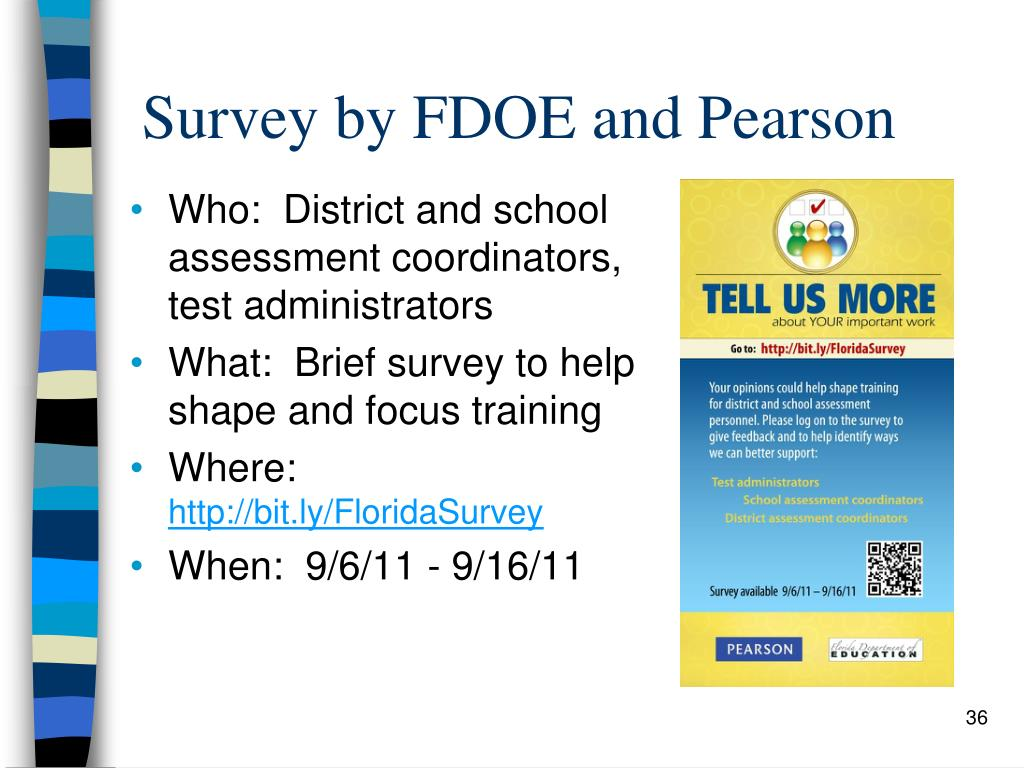 Survey by FDOE and Pearson