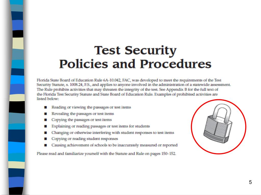 Test Security Policies and Procedures