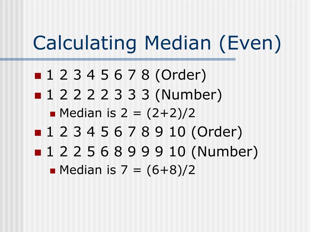 Calculating Median (Even)