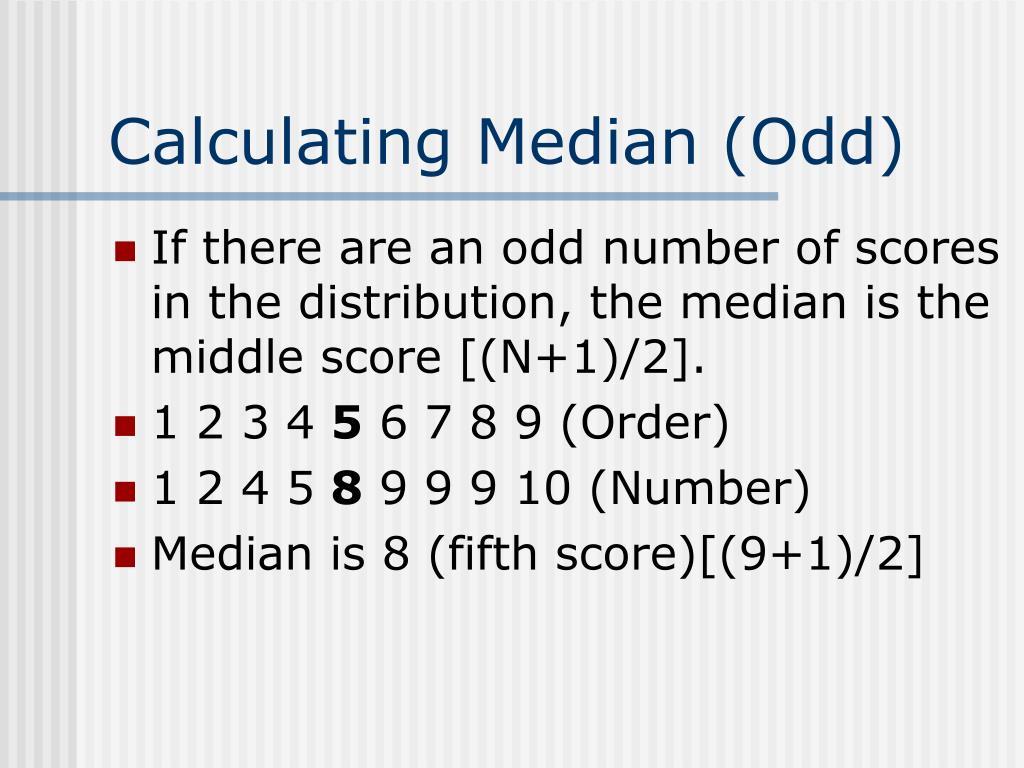 Calculating Median (Odd)