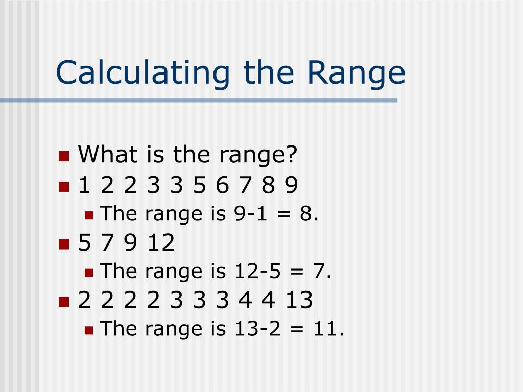 Calculating the Range
